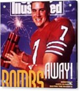 Houston Qb David Klingler, 1991 College Football Preview Sports Illustrated Cover Acrylic Print