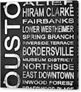 Houston Tx 4 Acrylic Print
