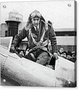 Hughes Boards His Plane Acrylic Print