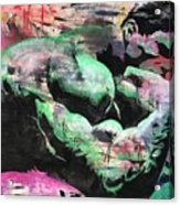 Hulk Thinker Acrylic Print