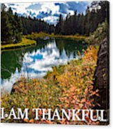 I Am Thankful Acrylic Print