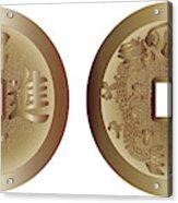 I Ching Coins Acrylic Print