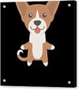 I Just Freaking Love Basenjis Cute Dog Design Acrylic Print