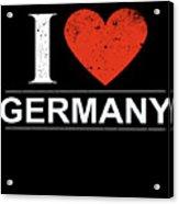 I Love Germany Acrylic Print