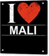 I Love Mali Acrylic Print