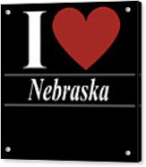 I Love Nebraska Acrylic Print