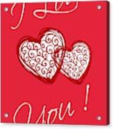 I Love You Hearts Acrylic Print