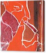 I Was Born In A Mine Woodcut 76 Acrylic Print