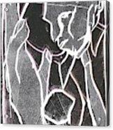 I Was Born In A Mine Woodcut 86 Acrylic Print