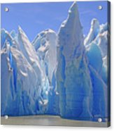 Ice Castles On A Sunny Day At The Grey Acrylic Print