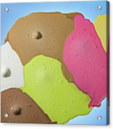 Ice Cream Scoops Melting, Different Acrylic Print
