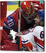 Ice Hockey - Day 10 - Russia V Czech Acrylic Print