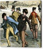 Ice Skating, 19th Century Acrylic Print