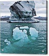 Icebergs On Jokulsarlon Glacial Lagoon Acrylic Print