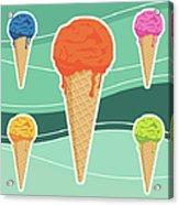Icecreams Acrylic Print