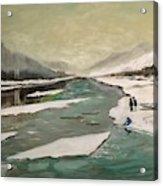 Icey River Acrylic Print