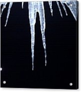 Icicle Moon Acrylic Print