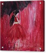 If It Rains Will You Be There For Me Acrylic Print