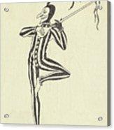 Illustration Of A Humorous Casanova Acrylic Print