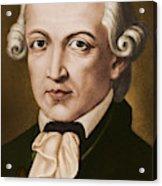 Immanuel Kant, Philosopher, Born In Konigsberg, Germany Acrylic Print