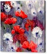 In The Night Garden - Sleeping Poppies Acrylic Print
