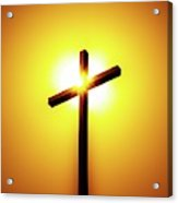 In The Shadow Of The Cross Acrylic Print