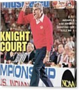 Indiana University Coach Bob Knight, 1987 Ncaa Midwest Sports Illustrated Cover Acrylic Print
