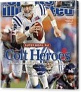 Indianapolis Colts Qb Peyton Manning, Super Bowl Xli Sports Illustrated Cover Acrylic Print