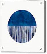 Indigo Moon- Art By Linda Woods Acrylic Print