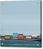 Industrial Barge Carrying Containers Acrylic Print