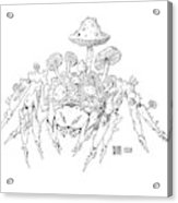 Infested Spider Acrylic Print