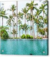Infinity Pool, Koh Samui, Thailand Acrylic Print