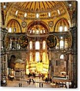 Interior Of Hagia Sophia Acrylic Print