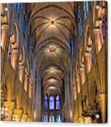 Interior Of Notre Dame De Paris Acrylic Print