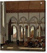 Interior Of The Oude Kerk  Amsterdam  Acrylic Print