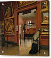 Interior View Of The Metropolitan Museum Of Art When In Fourteenth Street  Acrylic Print