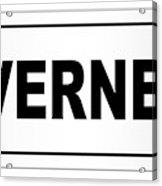 Inverness City Nameplate Acrylic Print