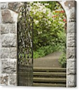 Invitation To The Garden Acrylic Print