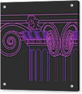 Ionic Capital Diagonal View Cropped 1 Acrylic Print