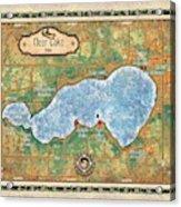 Iowa Clear Lake Custom Map Custom Map Art Acrylic Print
