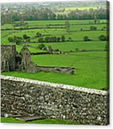 Ireland Country Scape With Castle Ruins Acrylic Print