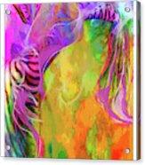 Iris Psychedelic  Acrylic Print