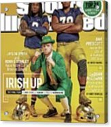 Irish Up 2015 College Football Preview Issue Sports Illustrated Cover Acrylic Print