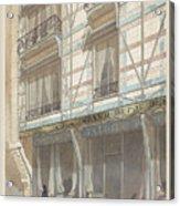 Iron Frame House With Glazed Earthenware  Acrylic Print