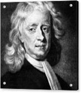 Isaac Newton 1642-1727, English Acrylic Print
