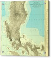 Island Of Luzon - Old Cartographic Map - Antique Maps Acrylic Print