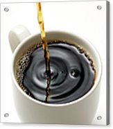 Isolated Shot Of Pouring A Fresh Coffee Acrylic Print