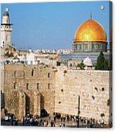 Israel, Jerusalem, Western Wall And The Acrylic Print