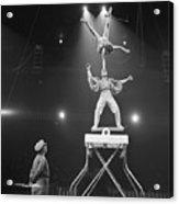 Italian Circus Performers Balancing Acrylic Print