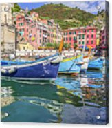 Italian Riviera Old Fashion Fishing Acrylic Print